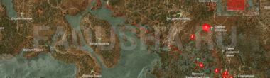 Карта задания 'Шепчущий холм' в 'Ведьмаке 3'