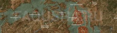 Карта задания 'Око за око' в 'Ведьмаке 3'