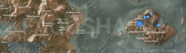 Карта задания 'В волчьей шкуре' в 'Ведьмаке 3'