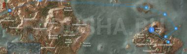 Карта задания 'Последнее желание' в 'Ведьмаке 3'