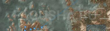 Карта задания 'Владыка Ундвика' в 'Ведьмаке 3'