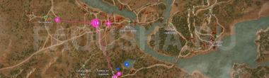 Карта задания 'Лихо у колодца' в 'Ведьмаке 3'
